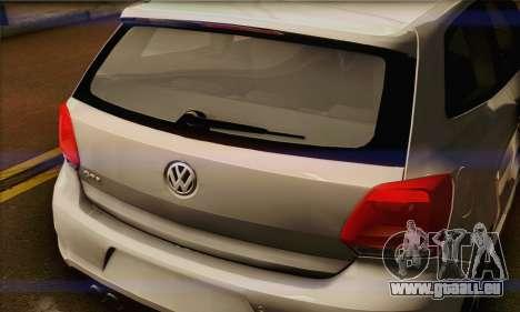 Volkswagen Polo GTi 2011 für GTA San Andreas Innenansicht