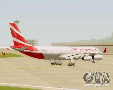 Airbus A340-312 Air Mauritius pour GTA San Andreas vue de droite