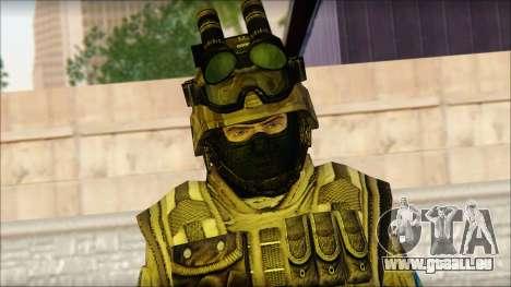 Les soldats de l'UNION européenne (AVA) v4 pour GTA San Andreas troisième écran