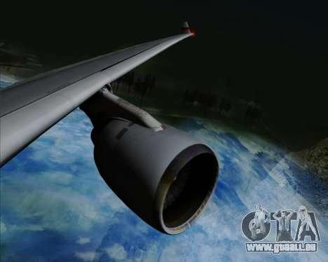 Airbus A330-300 Cathay Pacific für GTA San Andreas Unteransicht