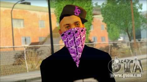 East Side Ballas Skin 2 pour GTA San Andreas troisième écran