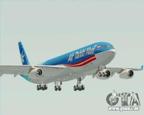 Airbus A340-313 Air Tahiti Nui für GTA San Andreas obere Ansicht