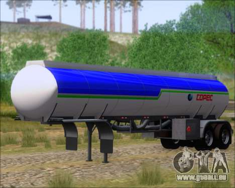 Trailer tank Carro Copec für GTA San Andreas rechten Ansicht
