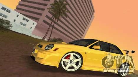 Subaru Impreza WRX 2002 Type 5 für GTA Vice City zurück linke Ansicht