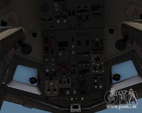 Boeing 737-86N Garuda Indonesia pour GTA San Andreas vue de dessous