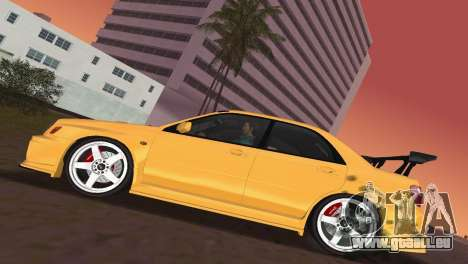 Subaru Impreza WRX 2002 Type 5 pour une vue GTA Vice City de l'intérieur