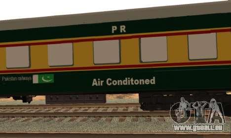Pakistan Railways Train für GTA San Andreas Innenansicht
