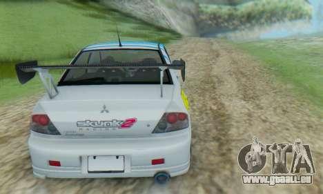 Mitsubishi Lancer Turkis Drift Aem pour GTA San Andreas vue de droite