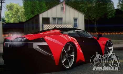 Marussia B2 pour GTA San Andreas sur la vue arrière gauche
