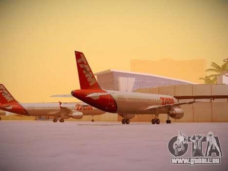 Airbus A320-214 TAM Airlines für GTA San Andreas rechten Ansicht