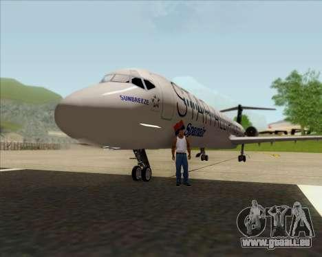 McDonnell Douglas MD-82 Spanair für GTA San Andreas Innenansicht