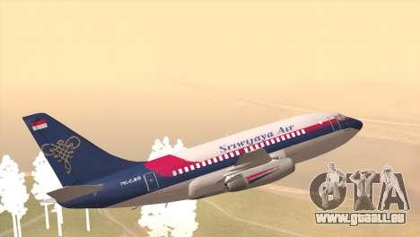 Indonesian Plane Sriwijaya Air pour GTA San Andreas laissé vue
