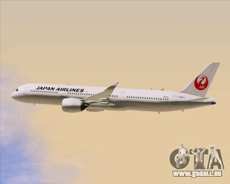 Airbus A350-941 Japan Airlines für GTA San Andreas obere Ansicht
