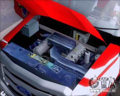 Ford F-350 Super Duty TFD Medic 1 pour GTA San Andreas vue intérieure