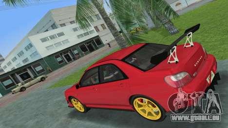 Subaru Impreza WRX 2002 Type 4 für GTA Vice City rechten Ansicht