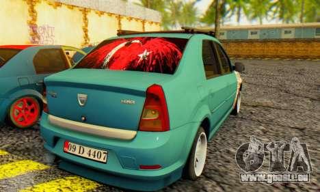 Dacia Logan 1.6 MPI Tuning pour GTA San Andreas sur la vue arrière gauche