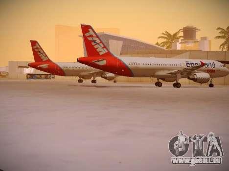 Airbus A320-214 TAM Oneworld für GTA San Andreas rechten Ansicht