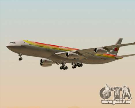 Airbus A340 -313 Iberia für GTA San Andreas Unteransicht