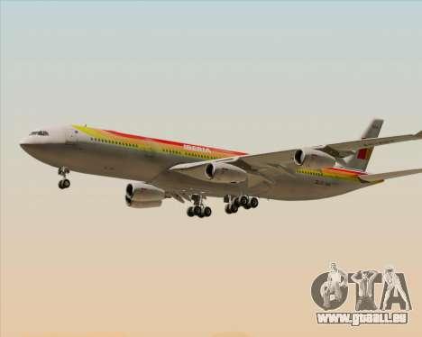 Airbus A340 -313 Iberia pour GTA San Andreas vue de dessous