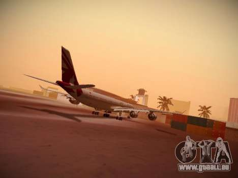 Airbus A340-600 Qatar Airways pour GTA San Andreas sur la vue arrière gauche