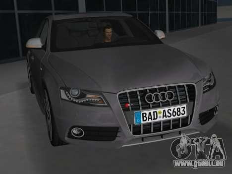 Audi S4 (B8) 2010 - Metallischen pour une vue GTA Vice City de l'intérieur