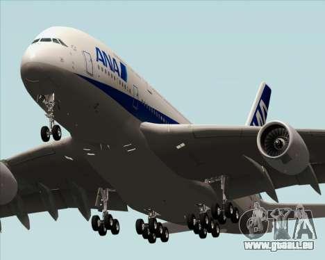 Airbus A380-800 All Nippon Airways (ANA) pour GTA San Andreas sur la vue arrière gauche