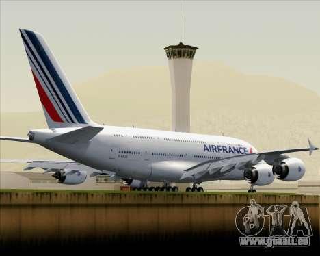 Airbus A380-861 Air France pour GTA San Andreas vue arrière