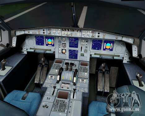 Airbus A340-313 SriLankan Airlines für GTA San Andreas obere Ansicht