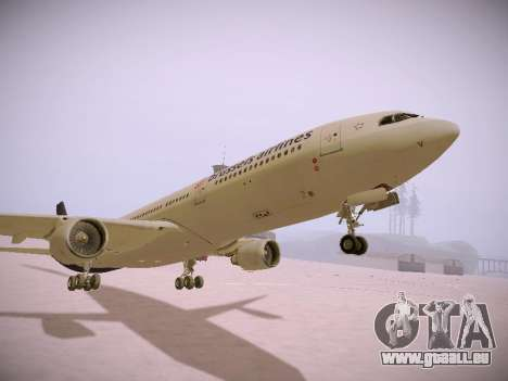 Airbus A330-300 Brussels Airlines für GTA San Andreas obere Ansicht
