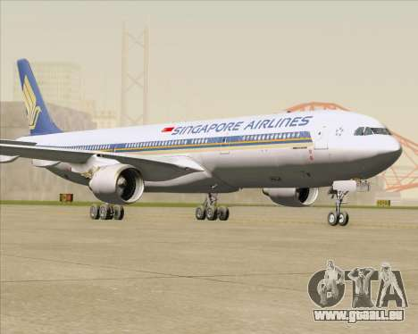 Airbus A330-300 Singapore Airlines für GTA San Andreas linke Ansicht