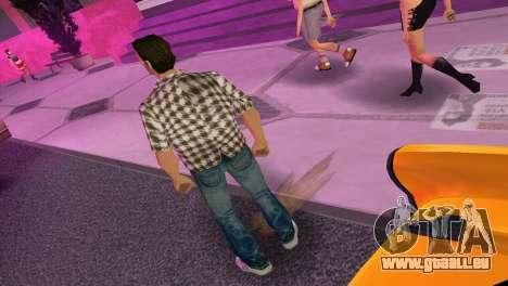 Kockas polo - barna T-Shirt für GTA Vice City dritte Screenshot