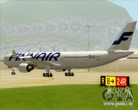 Airbus A330-300 Finnair (Current Livery) für GTA San Andreas Rückansicht