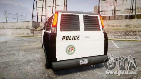 Declasse Burrito Police pour GTA 4 Vue arrière de la gauche