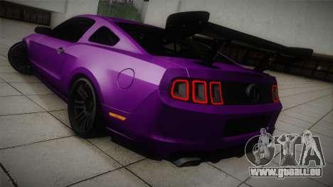 Ford Mustang Boss 302 2013 Road Version für GTA San Andreas zurück linke Ansicht