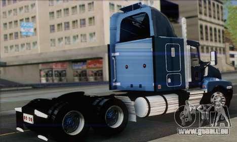 Kenworth T600 pour GTA San Andreas laissé vue