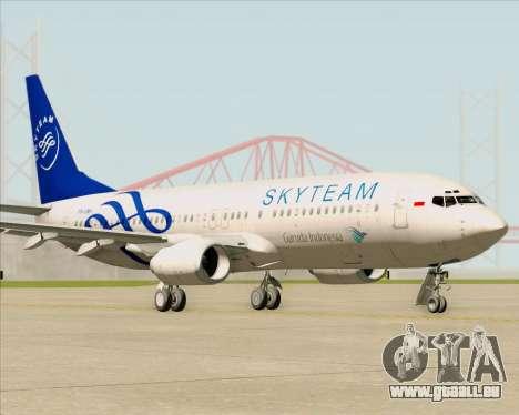 Boeing 737-86N Garuda Indonesia pour GTA San Andreas laissé vue