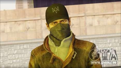 Aiden Pearce from Watch Dogs für GTA San Andreas dritten Screenshot