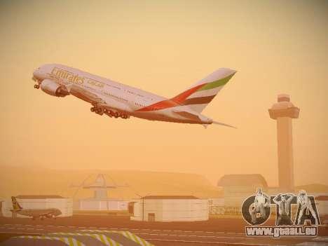 Airbus A380-800 Emirates für GTA San Andreas Räder