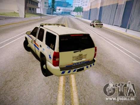 Chevrolet Tahoe 2007 RCMP für GTA San Andreas rechten Ansicht