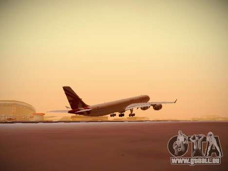 Airbus A340-600 Qatar Airways für GTA San Andreas Seitenansicht