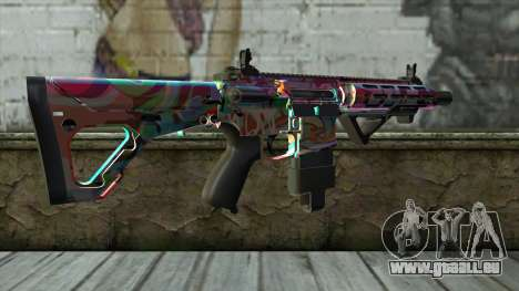 Graffiti Assault rifle v2 pour GTA San Andreas deuxième écran