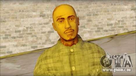 Los Aztecas Gang Skin v1 pour GTA San Andreas troisième écran