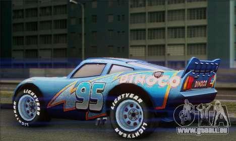 Lightning McQueen Dinoco für GTA San Andreas linke Ansicht
