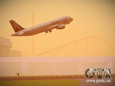 Airbus A320-214 LAN Oneworld für GTA San Andreas Innen