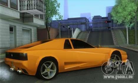 Cheetah Testarossa pour GTA San Andreas laissé vue
