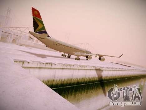 Airbus A340-300 South African Airways für GTA San Andreas zurück linke Ansicht