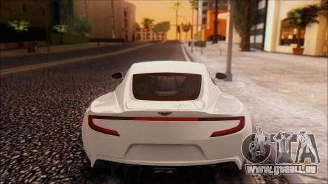 Aston Martin One-77 für GTA San Andreas zurück linke Ansicht