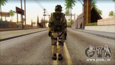 Les soldats de l'UNION européenne (AVA) v4 pour GTA San Andreas deuxième écran
