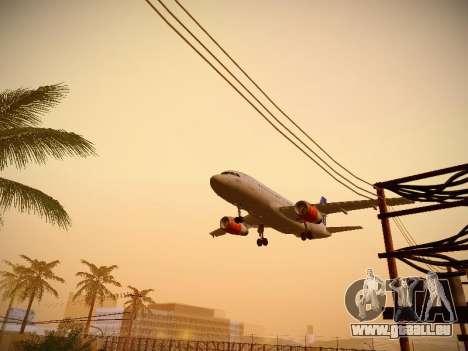 Airbus A319-132 Scandinavian Airlines für GTA San Andreas Seitenansicht