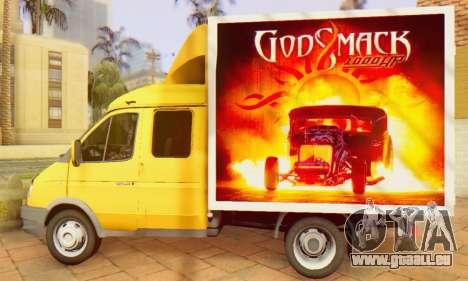 33023 GAZelle Godsmack - hat 1000hp (2014) für GTA San Andreas rechten Ansicht